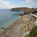 クロアチア・ドゥブロヴニクでビーチ散歩と夕食ー2017年ヨーロッパ周遊1人旅その32